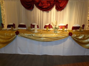 Table Cloth rentals Edmonton