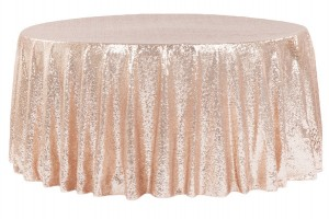 120 Blush Round Tablecloth