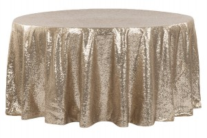 120 Champagne Round Tablecloth